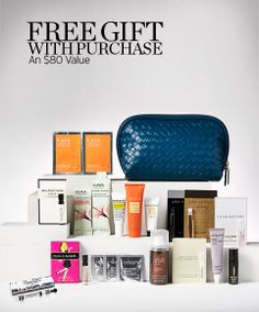 AWESOME cosmetics bag & super samples! FREE GIFT WITH PURCHASE - AN $80 VALUE #nordstrombeauty
