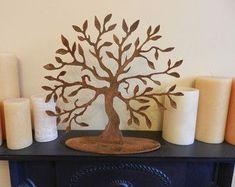Tree of Life Medium/ Rusty Metal Tree Sculpture / Table Top Art / Mantelpiece Decoration / Rustic Tree Decor / Tree Decoration / Tree Statue