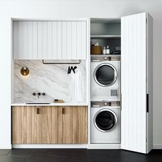 40 Small Laundry Room Ideas and Designs 2018 Laundry room decor Small laundry room organization Laundry closet ideas Laundry room storage Stackable washer dryer laundry room Small laundry room makeover A Budget Sink Load Clothes