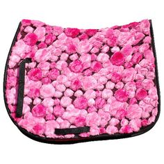 Pink Fluffy English Saddle Pad - Novelty English Saddle Pads