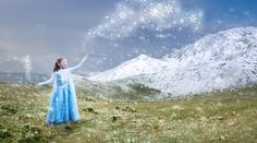 Frozen inspired Child portrait, composite with photoshp and stock images #photoshop