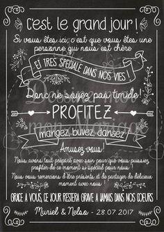 """Tableau de mariage personnalisable """"merci ardoise"""" - pour une décoration personnalisée"""