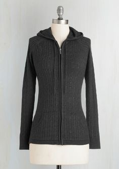 Layer to Rely On Hoodie in Charcoal - Knit, Grey, Solid, Pockets, Casual, Travel, Long Sleeve, Fall, Winter, Better, Hoodie, Variation, 2, Rustic, Mid-length, Tis the Season Sale, Lounge