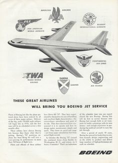 This Boeing 707 advert appeared in the March 5, 1956 issue of Aviation Week & Space Technology