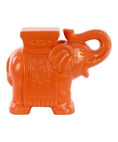 Look what I found on #zulily! Orange Ceramic Elephant by Urban Trends Collection #zulilyfinds