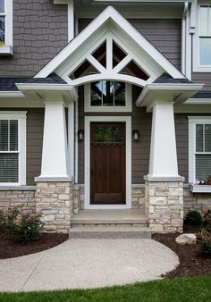 Craftsman style front entrance                                                                                                                                                                                 More