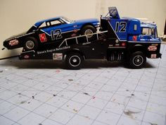 Ford C-800 race car hauler and 64 Ford stock car | The Truckstop