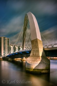 The Squinty Bridge, River Clyde, Glasgow.