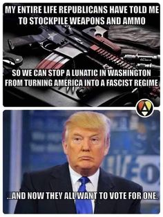 Fascist Republicans who stockpile guns...who are they planning on killing?  Democrats?