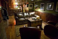 I like this, minus the played-out green walls. I mean, I like the Irish pub theme, but green walls?
