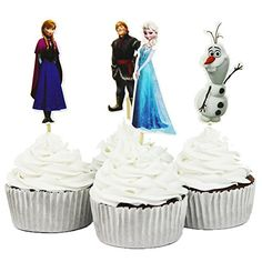BETOP HOUSE Set of 24 Pieces Frozen Cake Cupcake Decorative Cupcake Topper for Kids Birthday Party Themed Party >>> To view further for this item, visit the image link. Disney Frozen Cupcakes, Frozen Cupcake Toppers, Frozen Cake Topper, Funny Wedding Cake Toppers, Birthday Cake Toppers, Birthday Cake Decorating, Cake Decorating Supplies, Decorating Tools, Wedding Cake Decorations