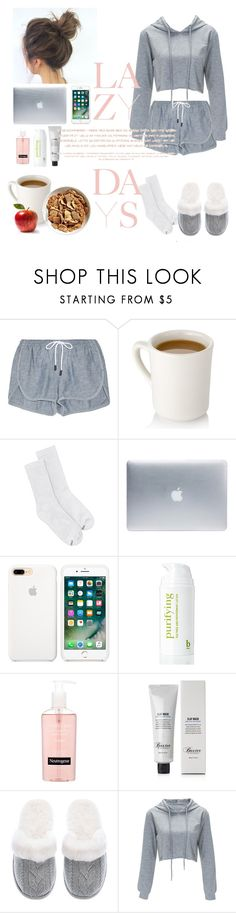 """""""#Save It For A Lazy Day"""" by hogwarts4ever ❤ liked on Polyvore featuring rag & bone, Hanes, Incase, BBrowBar, Neutrogena, Baxter of California, Victoria's Secret and Lazy Days"""