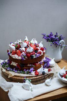 Eton mess sponge cake. #desserts #wedding #cakes