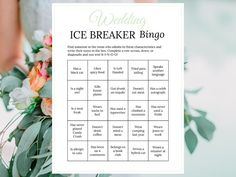 Bridal Shower Ice Breaker Game Sage Wedding Printable Human Bingo Cards Get to Know You - Sage Wedding Ideas - Bridal Shower Ice Breaker Game Sage Wedding Printable Human - Leadership Activities, Physical Education Games, Group Activities, Ice Breaker Bingo, Human Bingo, Wedding Party Games, Wedding Ideas, Sorority Party, Elementary School Counseling
