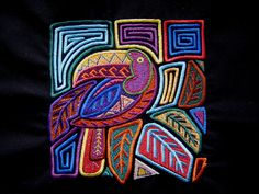 Mola Toucan Embroidered Quilt Fabric  Block by tuesdayrose on Etsy, $9.25