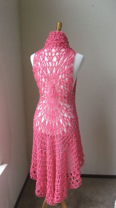 HOT PINK Crochet VEST Boho Bohemian / Fashion Crochet Fucsia Vest / Chic Feminine Gift for Her | Cathy Morgan's Blog
