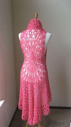 HOT PINK Crochet VEST Boho Bohemian / Fashion Crochet Fucsia Vest / Chic Feminine Gift for Her   Cathy Morgan's Blog