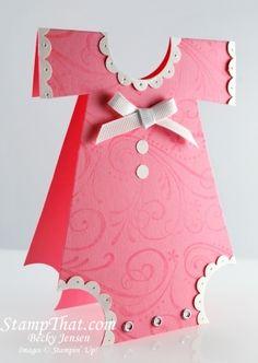 Cute: Handmade Baby Onsie Shower Invitations