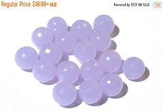 55% OFF SALE 16Pcs AAA Lavender Chalcedony by GemsAndBeadsEmporium