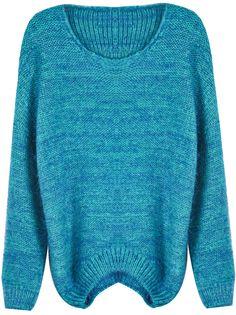 Jersey simple suelto manga larga-Azul EUR€22.97