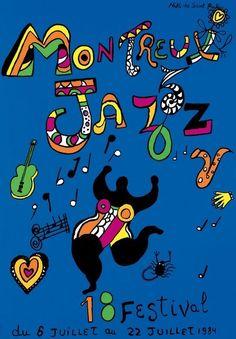 Niki de Saint Phalle - Montreux Jazz 1984 - W.B.