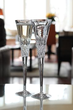 Monique Lhuillier Waterford Ellypse Toasting Flute, Pair
