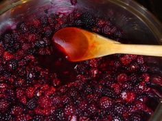 Canned Blackberry Pie filling, how to, recipeIt's blackberry season and for us that means alot of jam and pie filling making. I like this because there is nothing like a fresh blackberry pie in the winter. Plus I know what went into this. The thing about berries is you never really know how much you have until you start cooking it down.
