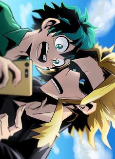 Midorya & All Might My Hero Academia Memes, Hero Academia Characters, Buko No Hero Academia, Anime Characters, Deku Anime, Superhero Academy, Anime Friendship, One Punch Man, Hero Wallpaper