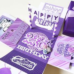 A cute cheerful and sweet box card for birthday or wedding using  cardstock…