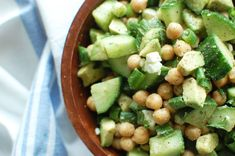 Chickpea, Cucumber + Avocado Salad For A Refreshing Lunch - mindbodygreen.com