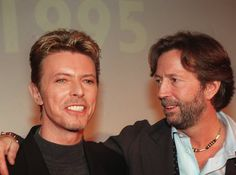 David Bowie & Eric Clapton Glad only one of these on the picture is gone the other one's going to hurt, more than Bowie although I did love Bowie