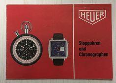 Heuer Katalog 70er Jahre , Carrera, Easy Rider, Autavia mit Preisangaben,Swiss Easy Rider, Vintage Watches, Carrera, Omega Watch, Ebay, Catalog, Vintage Clocks
