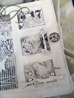 altered book Paper Sculptures, Sculpture Art, Fabric Journals, Memory Books, Altered Books, Fiber Art, Albums, Mixed Media, Collage