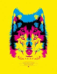 We love this wolf layering CMYK! This would make a really cool poster, don't you think?