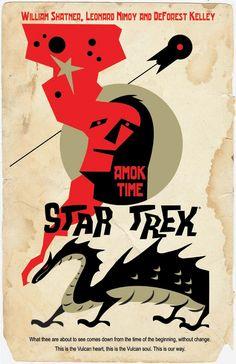 12 More Retro STAR TREK Posters from JuanOrtiz - News - GeekTyrant