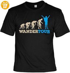 Fun T-Shirt - Wandern Hobby Motiv - Wandertour - Unisex, Farbe: schwarz - Shirts mit spruch (*Partner-Link)