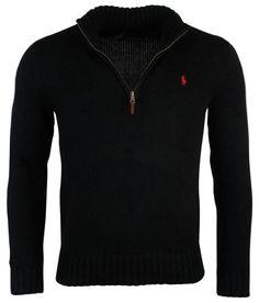 Polo Ralph Lauren Mens Half Zip Mock Neck Cotton Sweater $115.00 (save $30.00)  #PoloRalphLauren