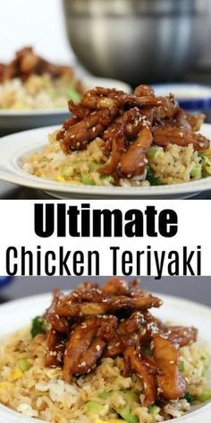 Even better than take-out and cheaper too! This easy (and fast) chicken teriyaki recipe is amazing - it is sure to be a family favorite! #dinner #recipes #chicken