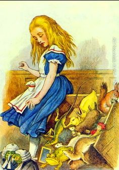 John Tenniel. Alice Upsets the Jury-Box, illustration from Alice in Wonderland by Lewis Carroll 1832-9