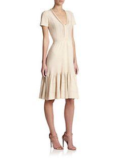 Burberry London - Paneled Knit Dress