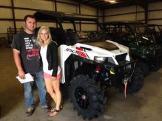 Congratulations to Joshua and Victoria Yates from Brandon, MS for your purchase of a 2017 Polaris General at Hattiesburg Cycles. #polaris