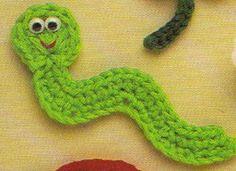 Crochet Worm Pattern ~ free pattern