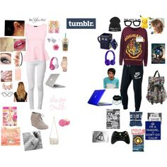 Hipster vs Fangirl by tibbsgirls on Polyvore featuring polyvore moda style rag & bone TOMS Speck Proenza Schouler J.Crew GUESS Jewel Exclusive Natasha Accessories Tory Burch Charlotte Russe Full Tilt Beats by Dr. Dre NIKE Eos Cyrus Phan4ever