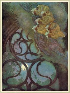 Edmund Dulac Art and Illustration Edmund Dulac, Art And Illustration, Fairy Tale Illustrations, Fantasy Kunst, Fantasy Art, Edgar Allen Poe, Edgar Allan, Kay Nielsen, Fairytale Art