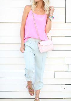 Pink + Mint Casual Wear - Mckenna Bleu