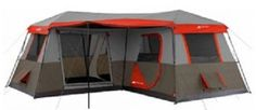 Person Best Camping Hiking Fishing Outdoor Waterproof Tent with Floor Only 10 In Stock Order Today! Product Description: The Ozark Trail instant cabin tent sets up in under two minutes! This tent requires no assembly because the Camping And Hiking, Camping Hacks, Camping Info, Best Tents For Camping, Tent Camping, Outdoor Camping, Camping Gear, Outdoor Gear, Camping Essentials