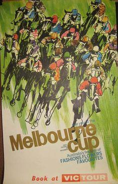 Melbourne Cup Vintage Poster