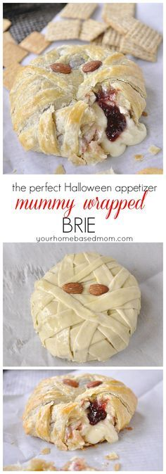 Mummy Wrapped Brie is sure to be a hit at your Halloween party!  #SpookySnackLab #IWorkWithCoke