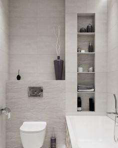 foorni.pl   Pomysł na małe wnętrze w bloku. #mieszkanie #blok #łazienka #płytki #deco #interior #bathroom #tiles House Extension Design, Extension Designs, House Extensions, Easy Home Decor, Small Bathroom, Bathrooms, Malaga, Sweet Home, Bathtub