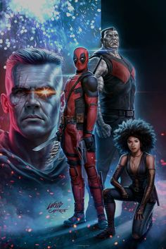 You are watching the movie Deadpool 2 on Putlocker HD. Wisecracking mercenary Deadpool battles the evil and powerful Cable and other bad guys to save a boy's life. Marvel Vs, Marvel Comics, Films Marvel, Marvel Characters, Marvel Heroes, Deadpool Comics, Deadpool Fan Art, Domino Marvel, Spiderman Marvel